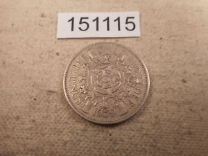 1959 GREAT BRITAIN TWO SHILLINGS HIGHER GRADE NICE COLLECTOR COIN    151115