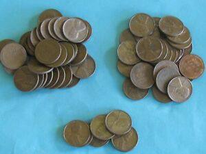 207 XF/AU CIRCULATED LINCOLN CENTS 1952 1951 1950 1949 P D S UNCERTIFIED