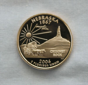 2006 S NEBRASKA CLAD PROOF STATE QUARTER CAMEO