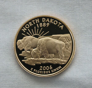 2006 S NORTH DAKOTA CLAD PROOF STATE QUARTER CAMEO