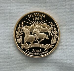 2006 S NEVADA CLAD PROOF STATE QUARTER CAMEO