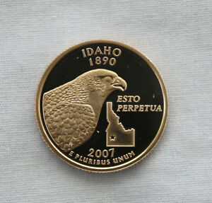 2007 S IDAHO CLAD PROOF STATE QUARTER CAMEO
