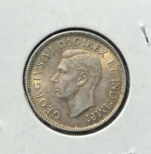 AU 1943 CANADIAN 25 CENTS SILVER COIN NICE TONED HIGH GRADE PIECE