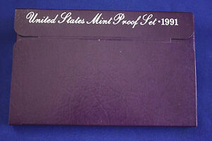 1991 S  U.S.PROOF SET. GENUINE. COMPLETE AND ORIGINAL AS ISSUED BY US MINT.