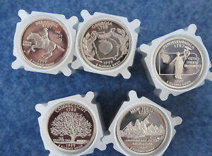 Click now to see the BUY IT NOW Price! 1999 2008 S STATEHOOD QUARTER GEM DCAM SILVER PROOF ROLL SET OF 50 ROLLS OF 40