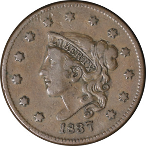 1837 LARGE CENT   N.8 R.1 GREAT DEALS FROM THE EXECUTIVE COIN COMPANY