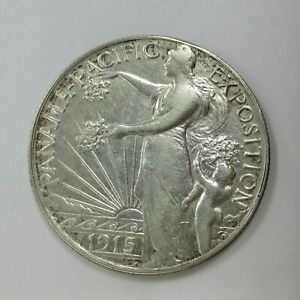 Click now to see the BUY IT NOW Price! 1915 PANAMA PACIFIC EXPOSITION COMMEMORATIVE SILVER HALF DOLLAR