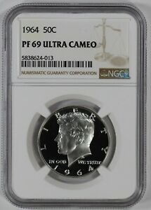 Click now to see the BUY IT NOW Price! 1964 PROOF KENNEDY HALF DOLLAR 50C NGC CERTIFIED PR PF 69 ULTRA CAMEO  013