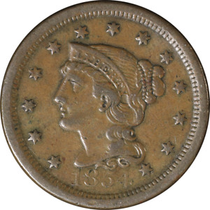 1854 LARGE CENT GREAT DEALS FROM THE EXECUTIVE COIN COMPANY