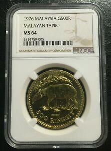 Click now to see the BUY IT NOW Price! MALAYSIA 500 RINGGIT 1976 GOLD NGC MS64