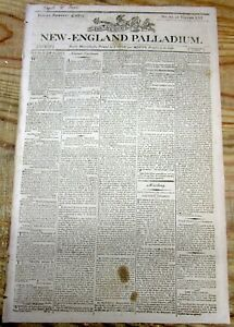<1803 NEWSPAPER 1802 REPORT OF THE US MINT COINS MINTED GOLD BULLION NUMISMATICS