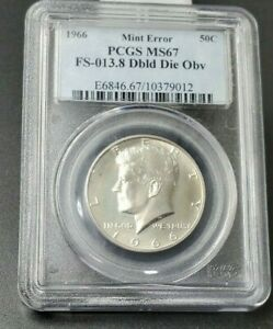 Click now to see the BUY IT NOW Price! 1966 P KENNEDY HALF DOLLAR PCGS MS67 FS 101 FS 013.8 DOUBLE DIE OBV DDO TOP POP