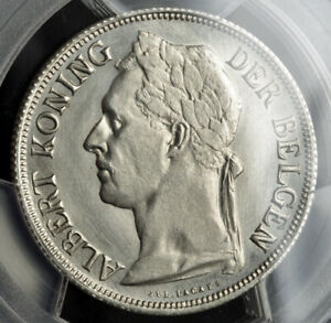 Click now to see the BUY IT NOW Price! 1920 BELGIAN CONGO ALBERT I. PATTERN 1 FRANC ESSAI COIN IN NICKEL. PCGS SP 65
