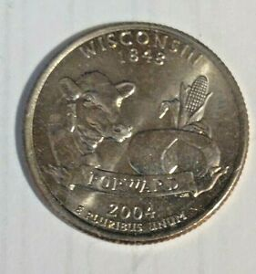 2004  D   WISCONSIN  STATE QUARTER BRILLIANT UNCIRCULATED  ATB COINS
