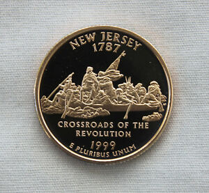 1999 S NEW JERSEY CLAD PROOF STATE QUARTER