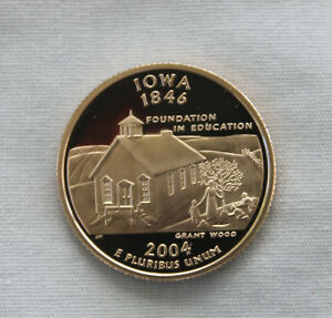 2004 S IOWA CLAD PROOF STATE QUARTER CAMEO
