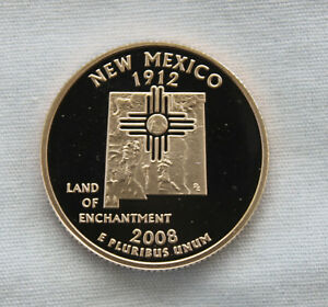 2008 S NEW MEXICO CLAD PROOF STATE QUARTER CAMEO