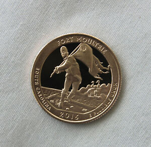 2016 S FORT MOULTRIE CLAD PROOF ATB QUARTER CAMEO