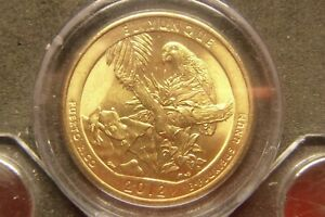 2012 D EL YUNQUE AMERICA THE BEAUTIFUL QUARTERS 24K GOLD LAYERED
