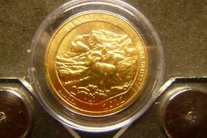 2012 D DENALI AMERICA THE BEAUTIFUL QUARTERS 24K GOLD LAYERED
