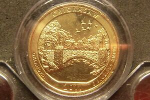 2011 D CHICKASAW AMERICA THE BEAUTIFUL QUARTERS 24K GOLD LAYERED