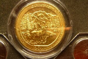 2011 D OLYMPIC AMERICA THE BEAUTIFUL QUARTERS 24K GOLD LAYERED