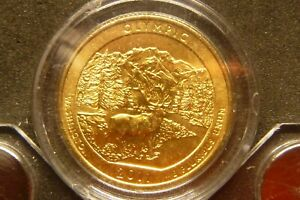 2011 P OLYMPIC AMERICA THE BEAUTIFUL QUARTERS 24K GOLD LAYERED