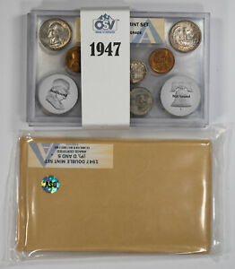 Click now to see the BUY IT NOW Price! 1947 PDS DOUBLE MINT SET OSV ANACS CERTIFIED MS 64 65 MINT STATE UNC   NICE SET