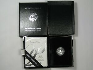 1997 W PROOF 1/10 TROY OZ .9995 FINE PLATINUM EAGLE W/ BOX & COA.  29