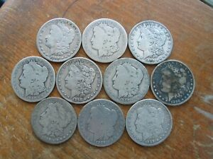 LOT OF 10 BETTER DATE 1898 S MORGAN SILVER DOLLARS MANY WITH ISSUES   SEE PHOTOS