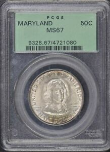Click now to see the BUY IT NOW Price! MARYLAND 1934 50C SILVER COMMEMORATIVE PCGS MS67 OGH