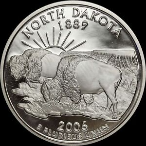 2006 S NORTH DAKOTA STATE CLAD PROOF   STATEHOOD QUARTER