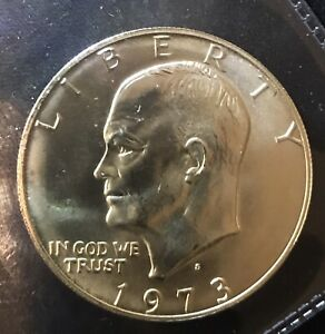 BEAUTIFUL 1973 S SILVER EISENHOWER DOLLAR. ERROR? YOU BE THE JUDGE