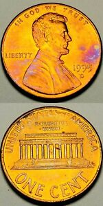 1995 D. GEM B.U. TONED LINCOLN MEMORIAL PENNY ERROR DDO 001  216