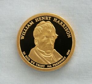 2009 S WILLIAM HENRY HARRISON PROOF PRESIDENTIAL DOLLAR CAMEO