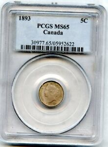 Click now to see the BUY IT NOW Price! 1893 CANADA 5 CENTS PCGS MS 65