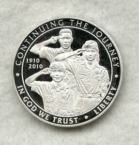 2010 P    BOY SCOUTS COMMEMORATIVE SILVER DOLLAR   PROOF   COIN ONLY
