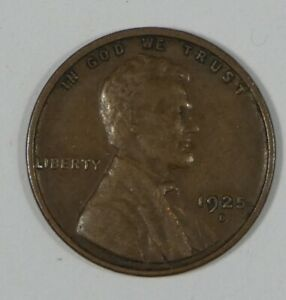1925 D LINCOLN/WHEAT EARS REVERSE CENT EXTRA FINE 1 CENT