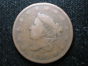 1820 OVER 1819 LARGE CENT   OVERDATE VARIETY   CORONET HEAD