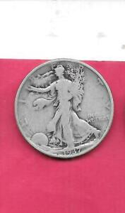 US WALKING LIBERTY  SILVER HALF DOLLARS  OLD ANTIQUE 1937 P VG NICE 50C COIN