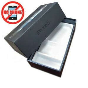 SCATOLA ORIGINALE BOX IPHONE 5 BLACK NERO VUOTA SENZA ACCESSORI