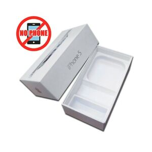 SCATOLA ORIGINALE BOX IPHONE 5 WHITE BIANCO VUOTA SENZA ACCESSORI