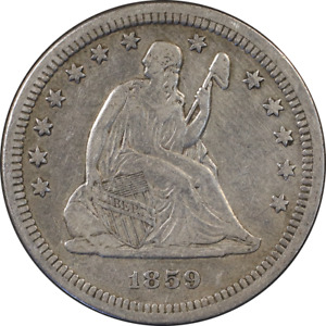 1859 P SEATED LIBERTY QUARTER GREAT DEALS FROM THE EXECUTIVE COIN COMPANY