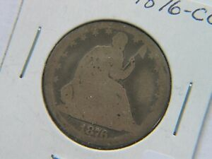 1876 CC SEATED LIBERTY HALF DOLLAR  DATE CARSON CITY COIN