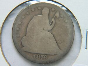 1876 CC SEATED LIBERTY HALF DOLLAR BETTER CARSON CITY MINT DATE