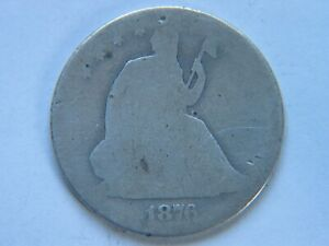 1876 CC LIBERTY SEATED HALF DOLLAR LOWER GRADE        SEE PHOTOS
