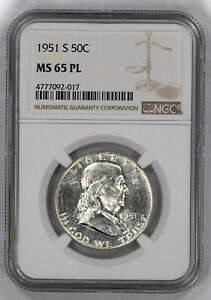 Click now to see the BUY IT NOW Price! 1951 S FRANKLIN HALF DOLLAR 50C NGC CERTIFIED MS 65 PL MINT UNC PROOF LIKE  017