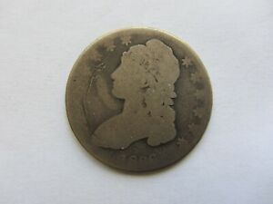 1836 CAPPED BUST HALF DOLLAR SCRATCHED   SEE PHOTOS
