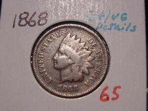 1868 INDIAN HEAD CENT G   VG DETAILS NICE BETTER DATE COIN COMBINED SHIPPING