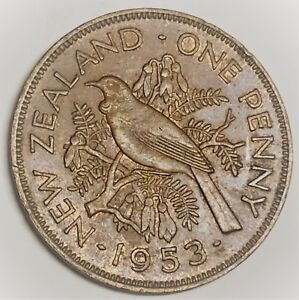C2396    NEW ZEALAND   COIN      LARGE PENNY    1953